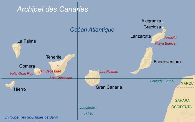carte des canaries - Image
